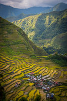An isolated village on the Batad rice terraces