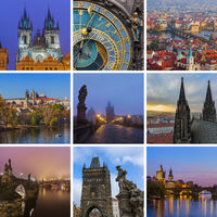 Collage of Prague in Czech republic images (my photos)
