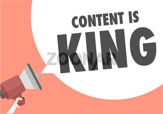 Megaphone Content is King