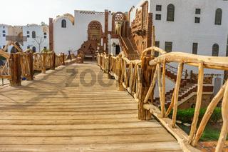 arabic wooden bridge
