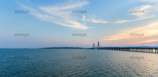 poyang lake second bridge panorama
