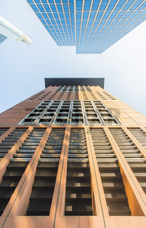 japancenter, taunustor commerzbankgebäude, froschperspektive