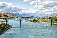 Lake Tekapo im Mackenzie District der Region Canterbury auf der Südinsel von Neuseeland