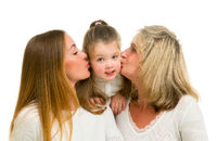 Portrait of grandmother with adult daughter and grandchild