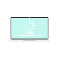 Vector illustration for update device laptop flat design