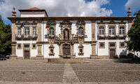 Facade of the City or Town hall of Guimaraes in northern Portugal