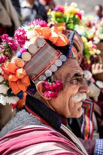 Elderly indigenous man in Ladakh, India