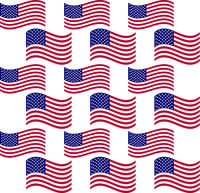 Abstract seamless background with USA flag pattern, part 6
