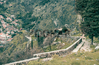Stony trail leading to the Kotor fortress