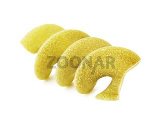 Raw Green Spiral Pasta