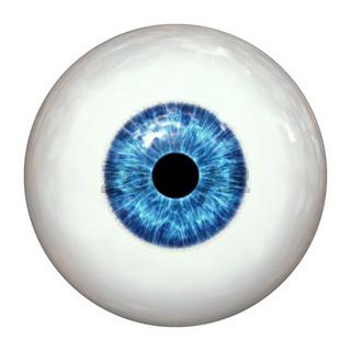 blue human eye ball