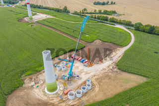 new wind turbines will be erected on a field