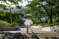 long stairs in naksan park