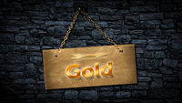 Street Sign to Gold