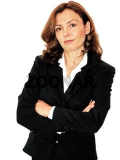 Geschäftsfrau mit offenem Blick
