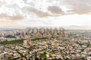 Panoramic view of Santiago de Chile