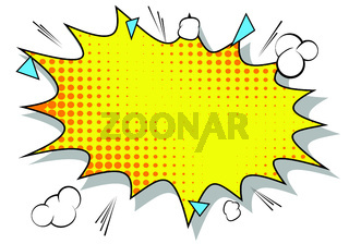 Vector illustrated retro comic background, pop art vintage style abstract background.
