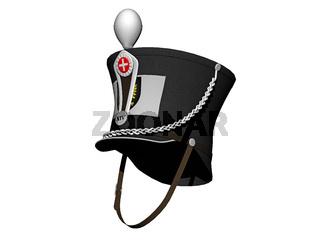 Shako Kopfbedeckung mit Kinnriemen