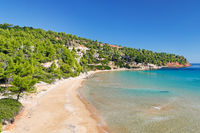 The beach Chrisi Milia of Alonissos, Greece