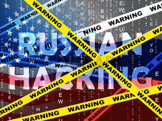 Russian Hacking Election Attack Alert 3d Illustration