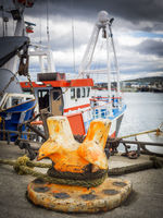 Fishing boat at the port of castletownbere in ireland