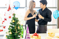 Couple celebrate new year party