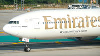 Emirates taxiing at Phuket airport