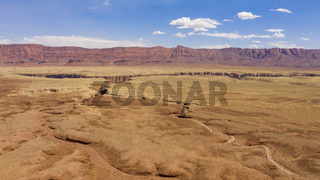 High buttes look over the desert near Marble Canyon in northern Arizona