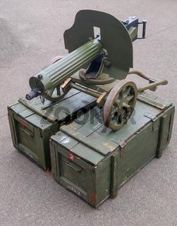 Old vintage Maxim machine gun