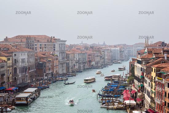 Blick auf den Canal Grande in Venedig, Italien