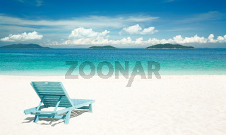 Beach tropical with relaxing chair