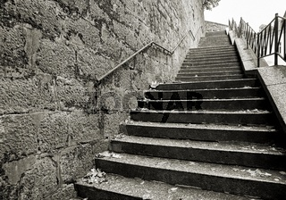 Treppe in der Altstadt von Karlovy Vary