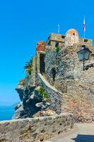 The Dragon Castle by the sea in Camogli