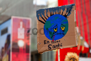French placard at environmental protest