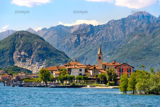 Isola dei Pescatori (Fishermen's Island) on Lake Maggiore, Stresa village, Piedmont region, Italy