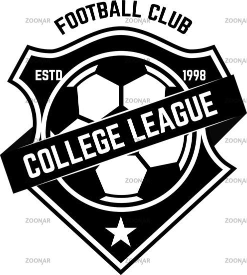Soccer club emblem. Design element for logo
