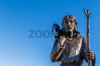 Ancient bronze statue of Jesus Christ