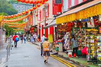 Chinatown quarter in Singapore