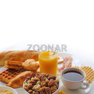 Healthy breakfast background