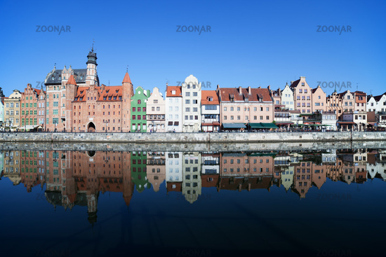 Gdansk City River View In Poland