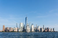 Lower Manhattan Skyline in NYC, USA
