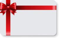 Blank Gift Tag Red Ribbon Bow
