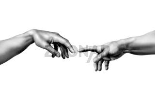 Michelangelo, die Erschaffung Adams