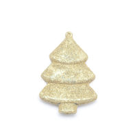 New Year's toy christmas tree isolated on a white background.