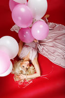 beautiful girl with balloons