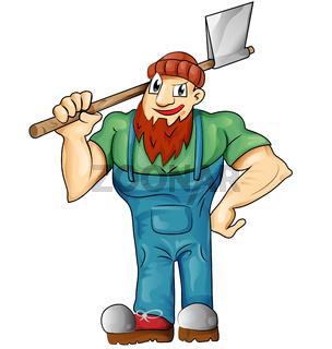 lumberjack cartoon isolated
