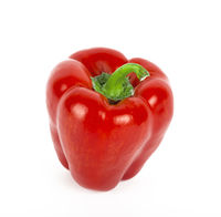 Paprika, on a white background, pepper, red, top, slices, vegetable, vegetarian, supermarket, restaurant, stew,