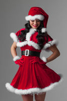 Woman in Santa Claus clothes
