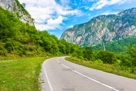 Highway in mountains