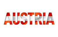 austrian flag text font